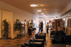 Vi boede på Hotel Viking, Sæby. Her ses foyeen på hotellet