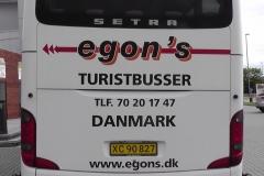 Dette var den bus, som vi kørte med.