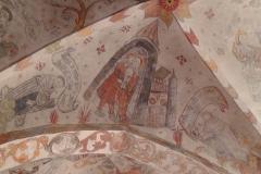 Kalkmalerier i loftet