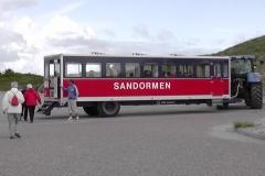 Vi kørte ud til spidsen af Grenen med denne bus.