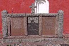 Mindesten på kirkegården