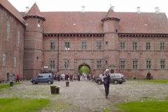 Voergård slot set fra bagsiden